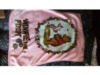 Baby girl Winnie the Pooh large pink blanket