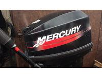 Mercury 25hp short shaft 2 stroke outboard engine