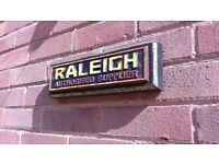 Vintage Raleigh CHOPPER BMX GRIFTER bike bicycle cast iron retro sign BSA HUMBER