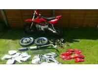 125cc pit bike + spares
