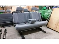 Large Sliding 3 Seat Camper Van Triple Rear Bench VW T4 T5 Transit etc Belts Bed