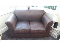 2 Seater fabric sofa (brown)