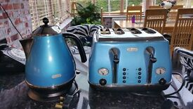 Delonghi Vintage Icona Kettle and Toaster