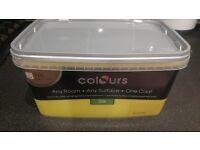 Paint x 2 B&Q silk emulsion Summer yellow