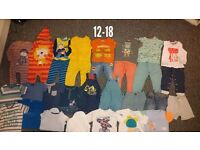 Large boys 12-18 month clothes bundle
