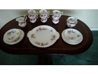 Royal Albert lavender rose tea set
