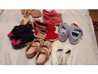 Girls 7 pairs shoe and Sandler for sale