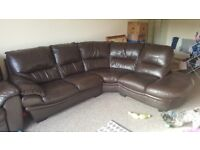 Corner sofa and reclining chair