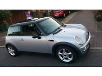 MINI COOPER AUTOMATIC 2003 SILVER 1.6, 78k milage, MINT silver, MOT, CD 2100