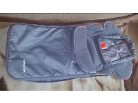 Mothercare footmuff with head hugger