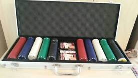 Poker set with case, collection only