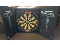 Winmau dart board and cabinet