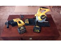Dewalt Cordless 24v tool set, in minted condition, see photos & detail..