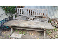 Garden Benches solid wood