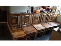 dining table and 6 chairs plus mirror vgc