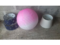 Lampshades x3 (various prices: 50p/£1/£3)