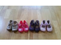 Girls shoes size 3&1/2 and 4 (Clarks) x 4 pairs