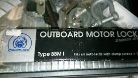 Outboard motor security lock