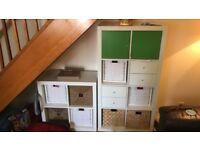 Ikea white storage units, drawers, cupboards, baskets
