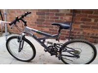 "Challenge 17""dual suspension bike"