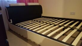 Double bed frame. Very good condition. Matress has a few stains but also can be sold without matress