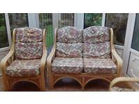 Conservatory furniture 2 seater setee and 2 chairs