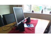 computer monitor & speakers