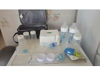 Spectra electric breast pump / bottles