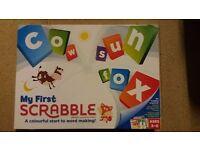 Kids Scrabble game (ToysRUs). From non-smoking/pet-free home. Hardly used. £1.50
