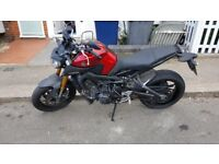 Yamaha MT09 ABS 2016 top condition dealer serviced 6800 Miles warranty