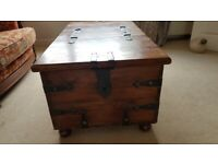 Used, Oak chest / coffee table for sale  Totnes, Devon