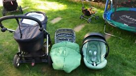 Mamas & Papas Buggy, Pram and car seat. complete travel system