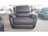 SCS Teo Black Leather Armchair Free Delivery Nottingham And Derby
