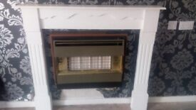 White top fire place good condition