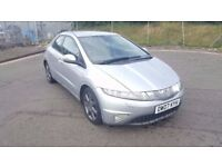 Diesel 2007 Honda Civic 2.2 EX I-CTDI 5 Door Sat Nav Rear Parking Sensor....