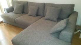 Lovely grey corner sofa from next