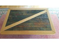 Oak and African Slate coffee table