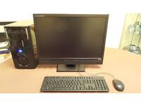 Quad Core Xeon Desktop PC with 24 inch Monitor