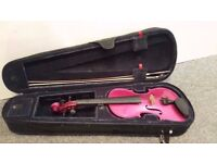 4/4 SIZE VIOLIN OUTFIT - RAINBOW FANTASIA PINK