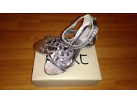 Next Silver Sparkly Shoes Size 5