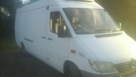 Lwb merc sprinter twin doors 2 conpartments freezer van