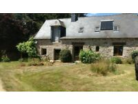 Country house 8 acres land,stables/agri tunnel, central brittany France