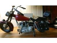 Ornament of Harvey Davidson motor bike
