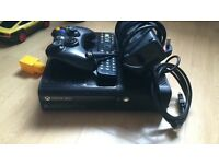 Xbox 360 for sale with power cable, HDMI, control and a remote control