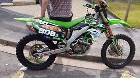 Kxf 250 motorcross bike off road sweet as
