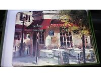 Set of 4 Placemats - Chez Julien French cafe