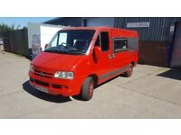 2005 Citroen Relay 2.0 hdi Camper Van in Red, New Mot, Ready to Holiday!