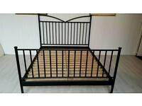 Ikea King Size Black Metal Bed Frame