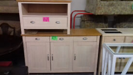 Limed Oak Sideboard..£79.. Matching Tv Unit £49....Local Delivery........