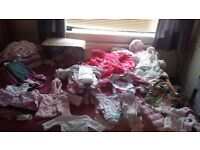 Massive bundle of baby girl clothes first size up to 1year